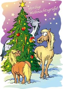 Pferdige Weihnachtsgruese