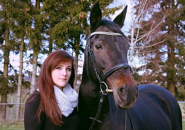 Madeleine Rudlof mit Caro