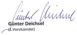 Unterschrift Deichsel